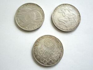 3 x 10 DM Münze Gedenkmünze Silber Olympiade 1972 München Olympische Spiele