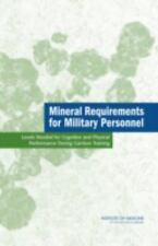 Mineral Requirements for Military Personnel: Levels Needed for Cognitive and Ph
