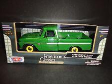 Motormax Chevrolet C10 Fleetside Pickup 1966 Green with Yellow Wheels 1/24