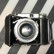 Franka Solida III Folding 120 Film Camera  80mm f2.9 Schneider Kreuznach Lens!