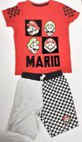 Boys Girls Kids Super Mario Kart Pyjama Sets Sleepwear Lounge wear Top Shorts PJ