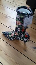 Gorgeous Zara floral ankle boots elasticated 37 UK 4 brand new