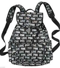 Victoria's Secret PINK Black 'LOVE PINK' Backpack Book Bag