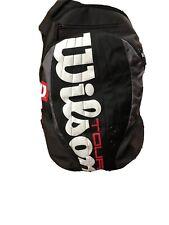 Wilson Tennis Bag Backpack Black White Logo Padded Straps
