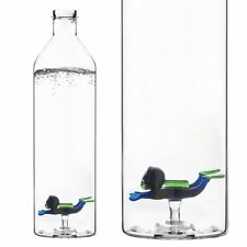 Balvi WATER BOTTLE SCUBA Diver 1.2L Borosilicate Glass DRINK Juice SODA PICNIC
