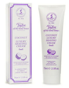 Coconut Luxury Shaving Cream 75ml Taylor of old Bond Street England