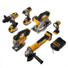 Power Tool Combination Sets with 6 Tools Battery Included