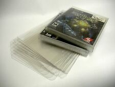 10 Clear Blu-Ray PS3 PS4 XBox One Game Case Protectors - Custom Fit - Acid-Free!