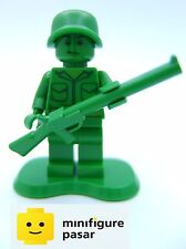 toy001 Lego Toy Story 7595 30071 - Green Army Minifigure With Gun & Stand - New