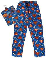 Mens Official Superman S Logo Lounge Pants Long Pyjama Bottoms S M L XL