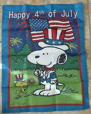 Peanuts Snoopy & Woodstock Holiday 4th of July  14x18 inches Garden Flag