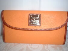 NWT  Dooney & Bourke Continental Clutch Wallet Pebbled Leather Melon