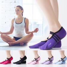 1 pair Women Ballet Grip Yoga Sock Massage Ankle Pilates Anti-slip Gym Sock 2018