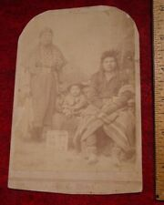 C1890s Cabinet Photo Card Native Americans Pendleton OR T C Ward Walter  Bowman