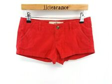 HOLLISTER Womens Shorts 1 W25 L2 Red Cotton Denim Hot Pants