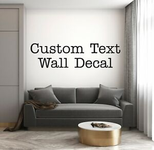 Wall Decal Personalised Text Name Word Sticker Sign Mural Art Typewriter font