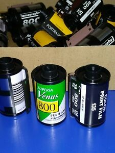 35mm film cartridges/canister, *25pcs, ISO800 dx-coded