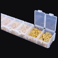 1 Box Gold Open Jump Rings 3mm-9mm (1780 pcs Assorted) Q9Y4