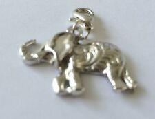 BEAUTIFUL LARGE SILVER  ELEPHANT CLIP-ON CHARM  / PENDANT -TIBETAN SILVER