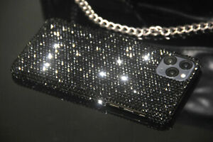 Bling Black Diamond Case Cover For iPhone 12 13 Pro Max With SWAROVSKI ELEMENTS