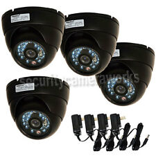 4x Dome Security Camera Outdoor CCD IR Day Night Vision 480TVL Wide Angle B4A
