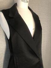 Nastygal Black Tuxedo Style Dress with Belt Size Small