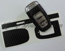 Black Carbon Fiber Key Wrap Cover Audi SMART Remote A1 A3 A4 A5 A6 A8 TT Q3 5 Q7