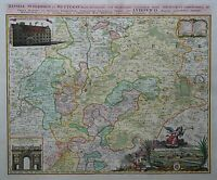 Hassiae Superioris et Wetterau - Gießen in Hessen - Johann Baptist Homann - 1746