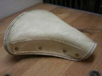 Vintage Bicycle Seat Troxel Made in the USA White