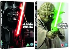 STAR WARS 1-6 I-VI 1977-2005 ORIGINAL + PREQUEL TRILOGY COLLECTION UK DVD not US