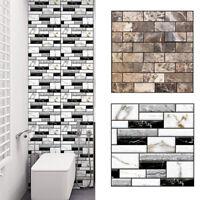 18PCS Self Adhesive Waterproof Black Marble Mosaic Wall Art Kitchen Tile Sticker