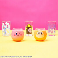 Bandai Kirby of the Stars Everyday Kirby Glass Cup collection 5 Type Set Japan