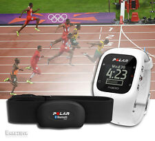 White Polar A300 Fitness Watch Fit Wrist + Activity Heart Rate Monitor HRM H7