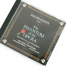 Highlights From The Phantom of the Opera CD Original Cast Recording 1987