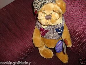 NEW RETIRED 1996   BRASS BUTTON BEAR COLLECTIBLE PLUSH SHERWOOD BEAR FULLY JOINT
