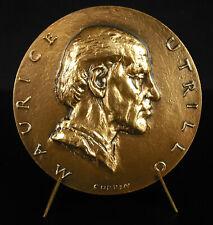 Médaille Maurice Utrillo Valadon peintre Ecole de Paris paint artiste 68mm medal