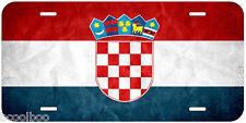 Croatia Grunge Flag Aluminum Novelty Car License Plate