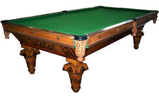 """Antique Inlaid """"New Acme"""" Pool Table by Brunswick #6707"""