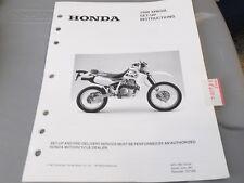Honda Set Up Instructions Manual 1998 XR650L XR650 L