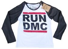 Amplified Run DMC Logo HIP HOP RAP 80'ER 'S HIPHOP STELLA' RETRO MANICHE LUNGHE