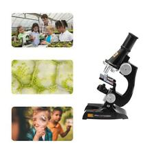 Microscope Kit Lab Home School Refined Science Educational Toy for Kids Child