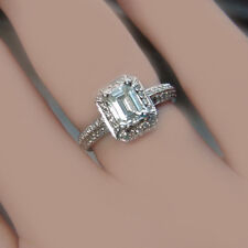 Vintage Inspired GIA Certified Emerald Cut Diamond Engagement Ring 2.30 CTW