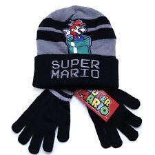 Super Mario Beanie Cap Glove Set Super Mario Green Pot