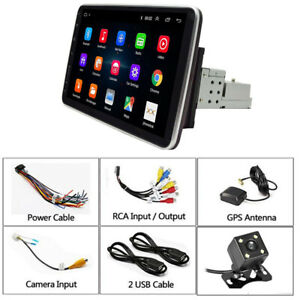 Android 9.1 10.1in 1DIN Car FM Bluetooth Stereo Radio GPS Navi WIFI MP5 Player