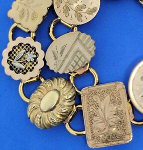 Art nouveau cufflink Bracelet : Elegant Repousse Gold Fill cufflinks  late 1800s