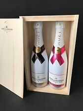 2x MOET Chandon Ice Imperial Rose Champagne Bottiglia 0,75l 12% vol + cassa di legno