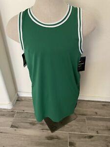New Men's Nike AEROSWIFT NBA  Boston Celtics Blank Basketball Jersey Size 48