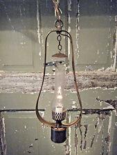 Brass Light Fixture Hanging Antique Kerosene Coal Oil Gas Lantern 17th Century