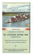 Wwii Advertising Blotter Littlestown National Bank Wartime War Bonds Mississippi