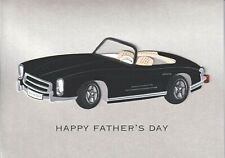 PAPYRUS FATHER'S DAY CARD NIP (MSRP $6.95) BLACK CAR CARD (E)